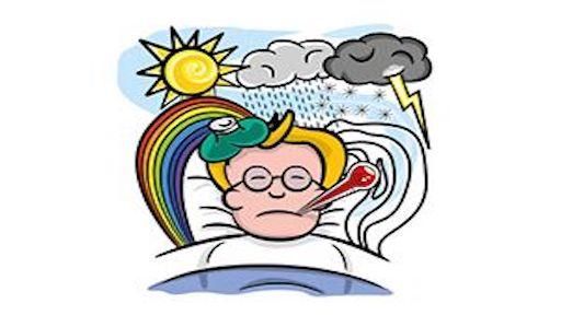 معنی فارسی اصطلاح: Under the weather