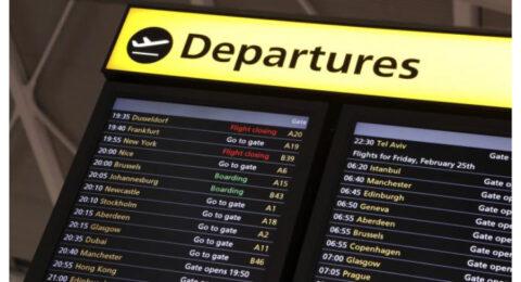 درک مطلب سطح پایه به همراه تمرین An airport departures board