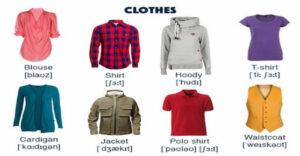 لغات پایه زبان انگلیسی - لباس به انگلیسی (Clothes)