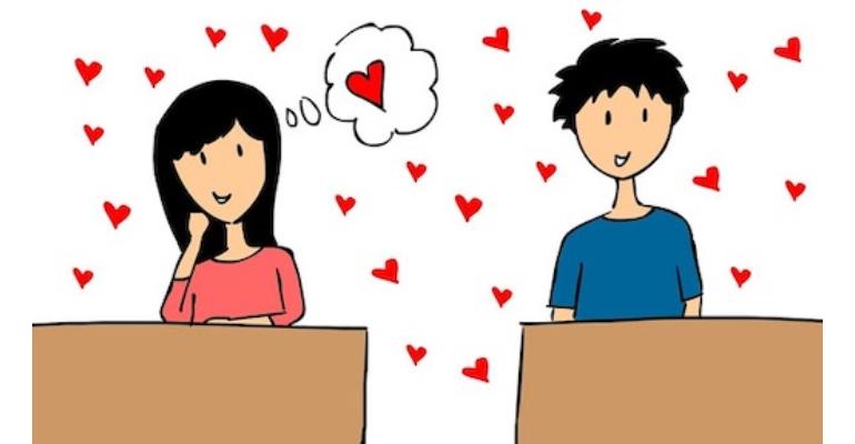 معنی فارسی اصطلاح: Have a crush on someone