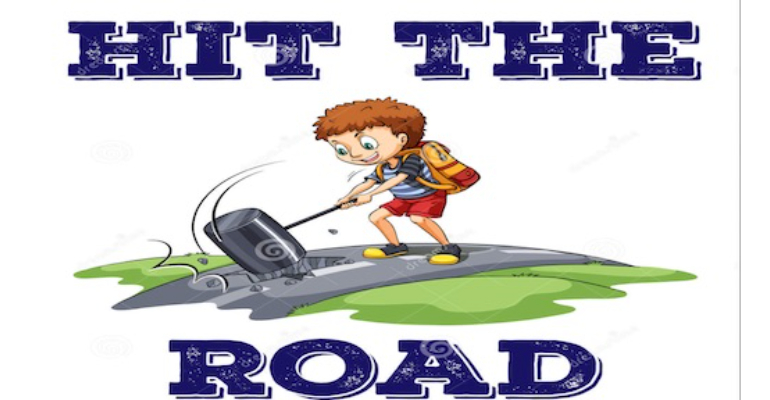 معنی فارسی اصطلاح: Hit the road
