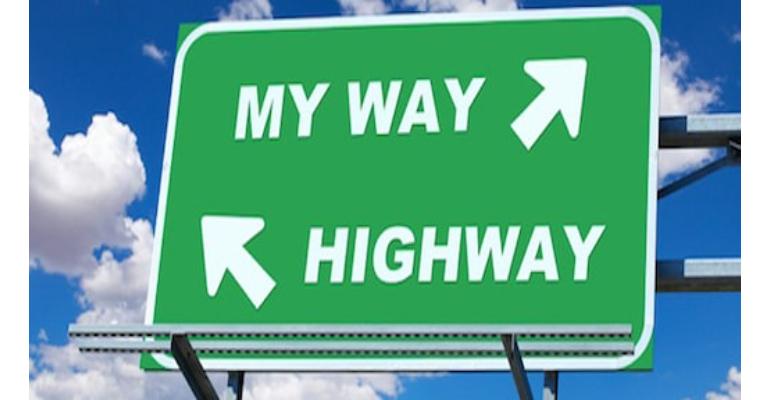 معنی فارسی اصطلاح: My way or the highway
