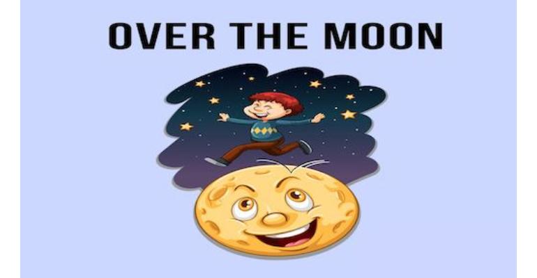معنی فارسی اصطلاح: Over the moon
