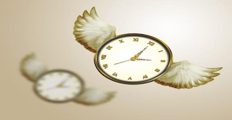 معنی فارسی اصطلاح: Time flies