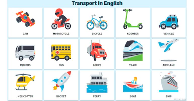 لغات پایه زبان انگلیسی -حمل و نقل1 به انگلیسی (Transport )