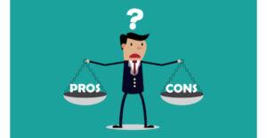 معنی فارسی اصطلاح: Weigh the pros and cons