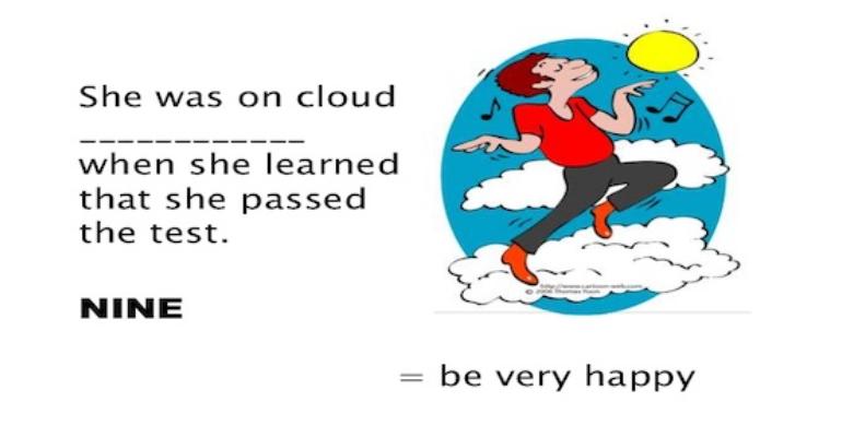 معنی فارسی اصطلاح: On cloud nine