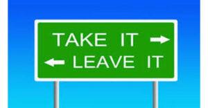 معنی فارسی اصطلاح: Take It Or Leave It